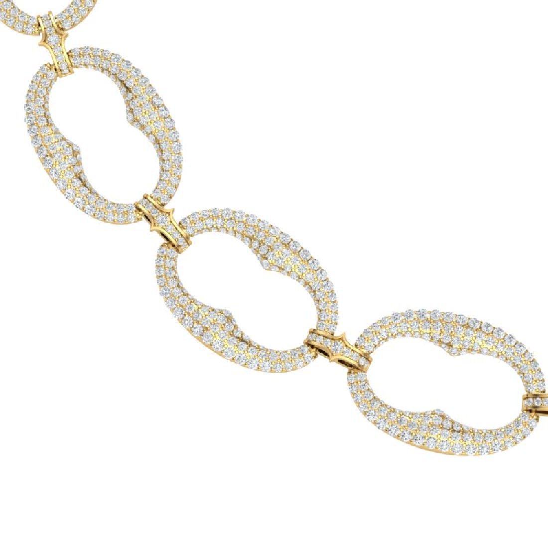 32 CTW Certified VS/SI Diamond Necklace 18K Yellow Gold