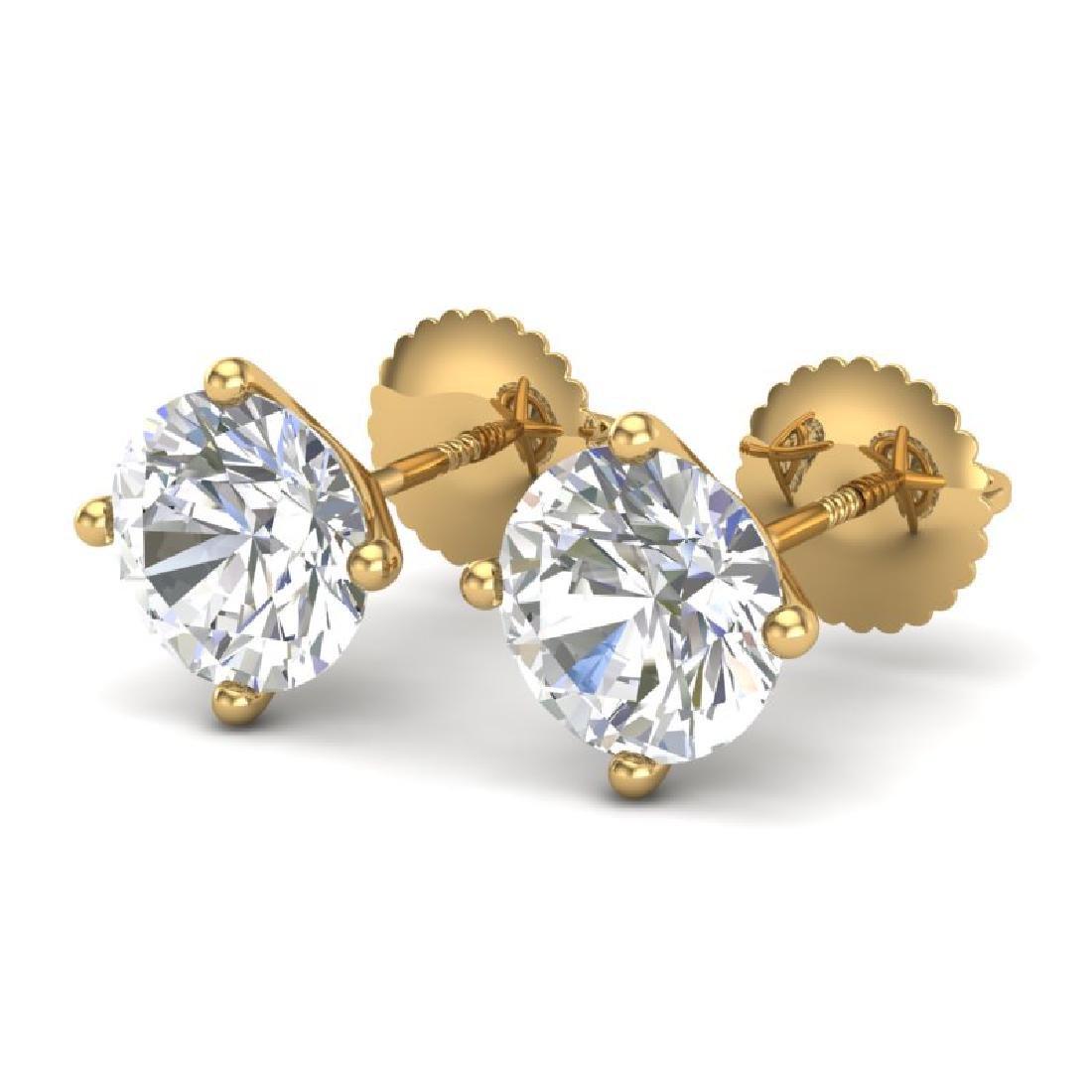 2.5 CTW VS/SI Diamond Bridal Solitaire Stud Earrings