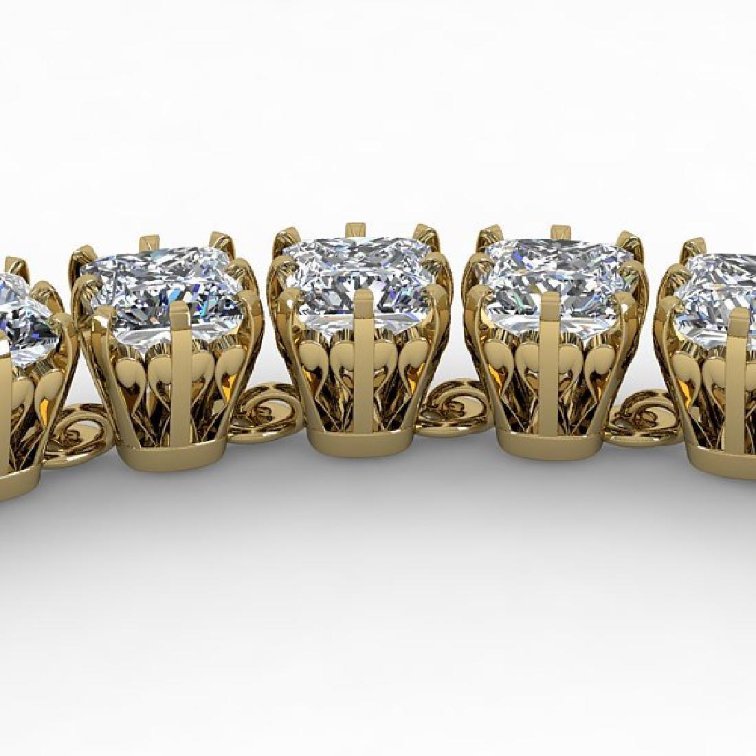 34 CTW Cushion Cut SI Certified Diamond Necklace 14K