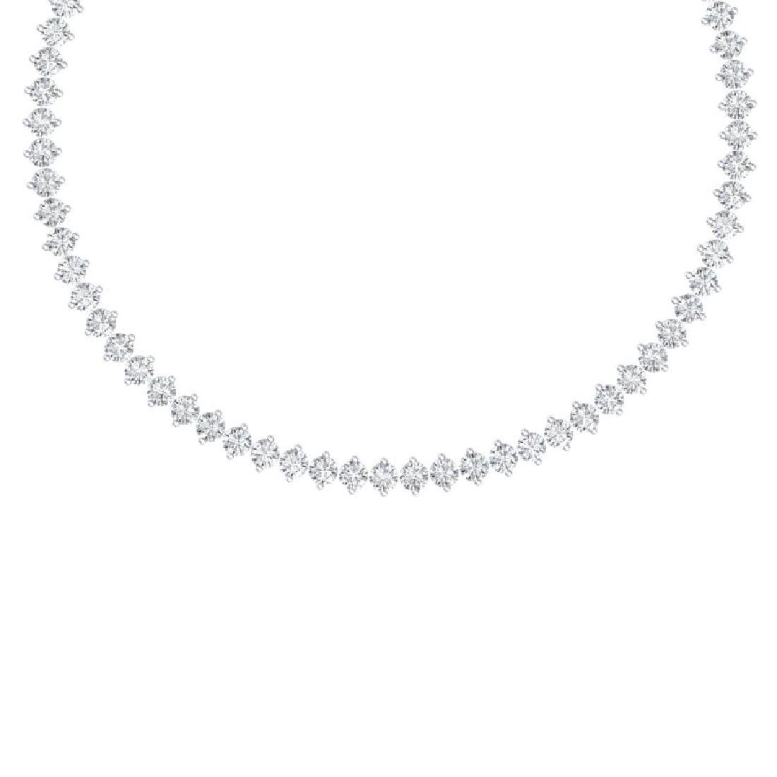 45 CTW Certified SI/I Diamond Necklace 18K White Gold