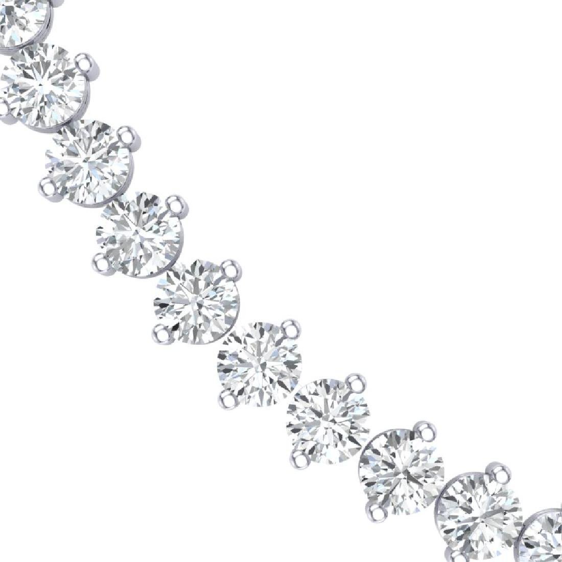 45 CTW Certified SI/I Diamond Necklace 18K White Gold - 2