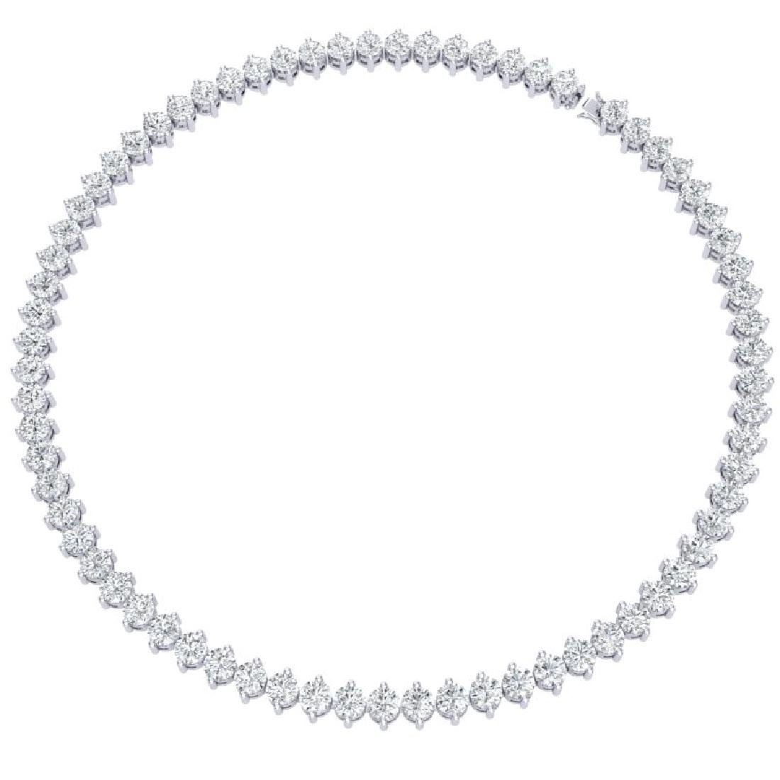 45 CTW Certified SI/I Diamond Necklace 18K White Gold - 3