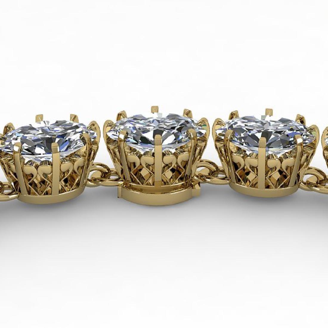 40 CTW Princess SI Certified Diamond Necklace 18K