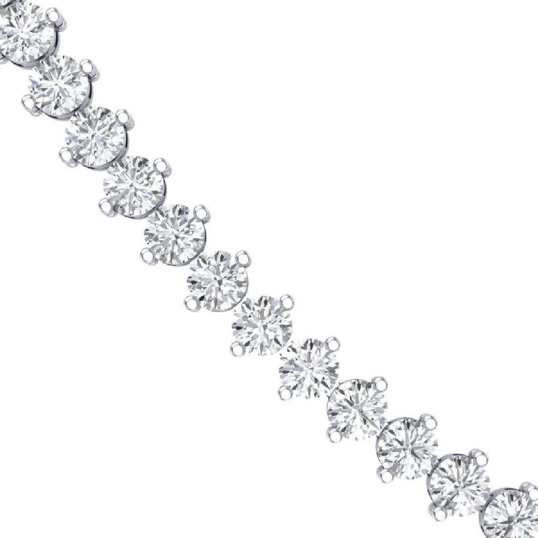 10 CTW Certified SI/I Diamond 2 Prong Necklace 10K - 2