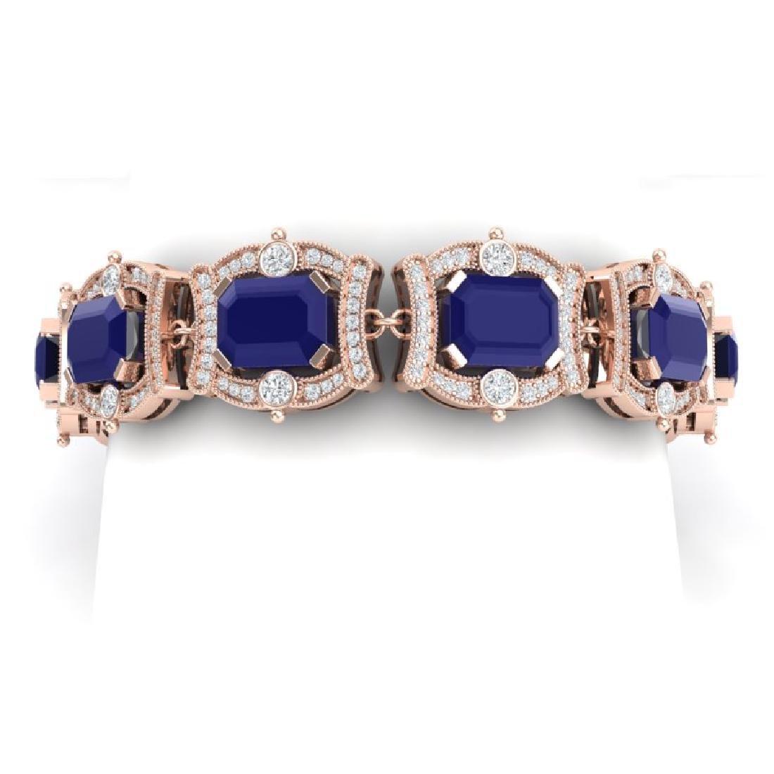 43.87 CTW Royalty Sapphire & VS Diamond Bracelet 18K