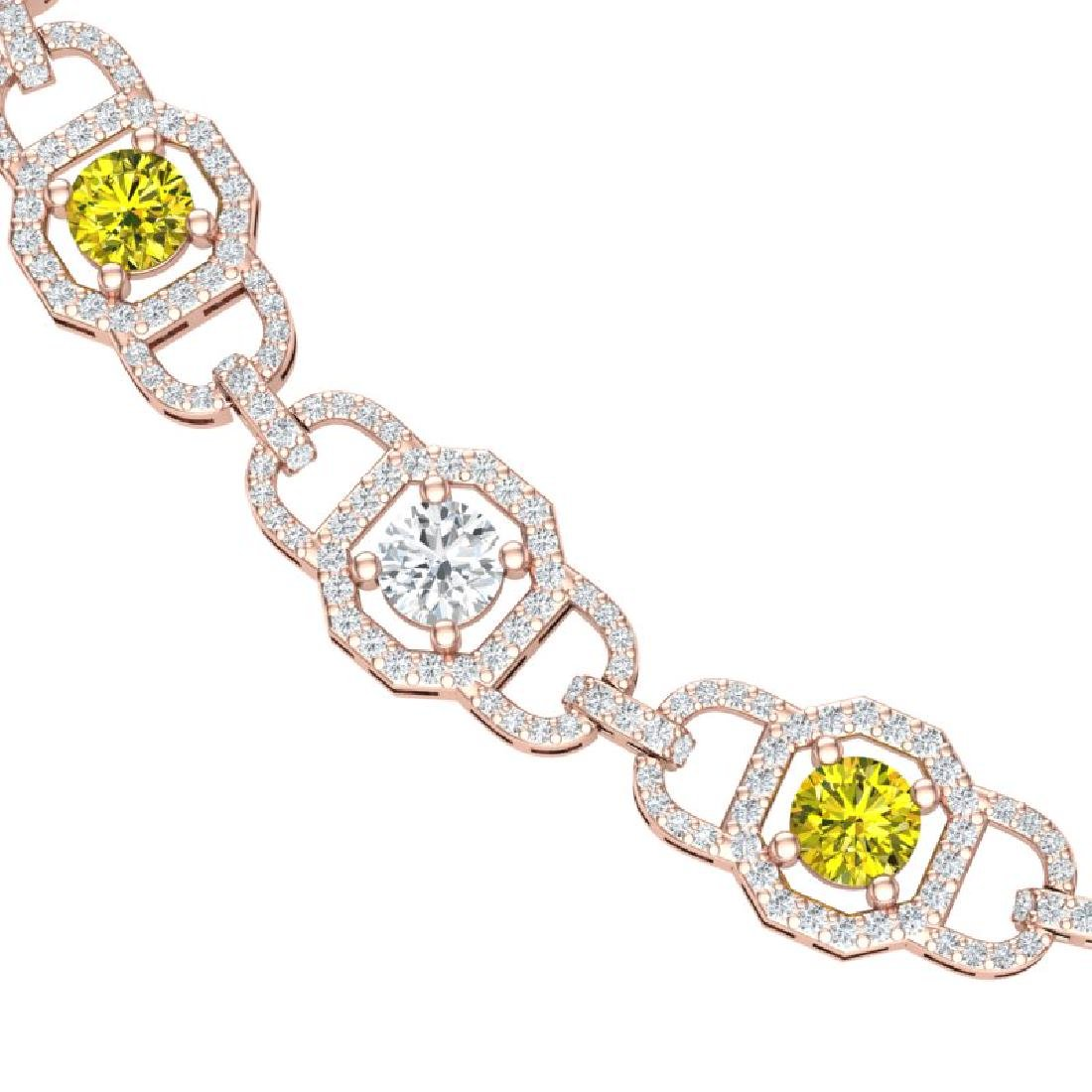 25 CTW SI/I Fancy Yellow And White Diamond Necklace 18K
