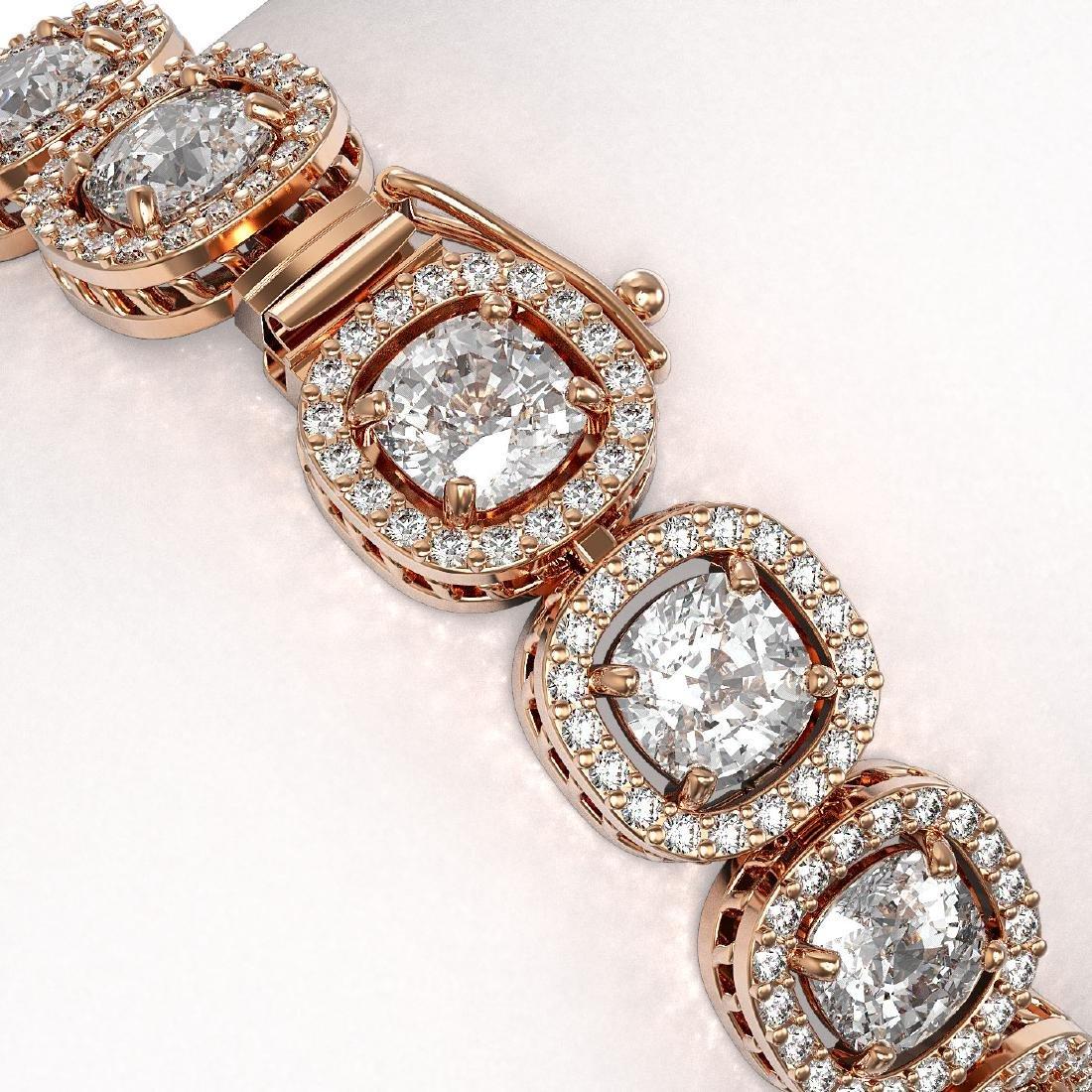 16.54 CTW Cushion Diamond Designer Bracelet 18K Rose - 3