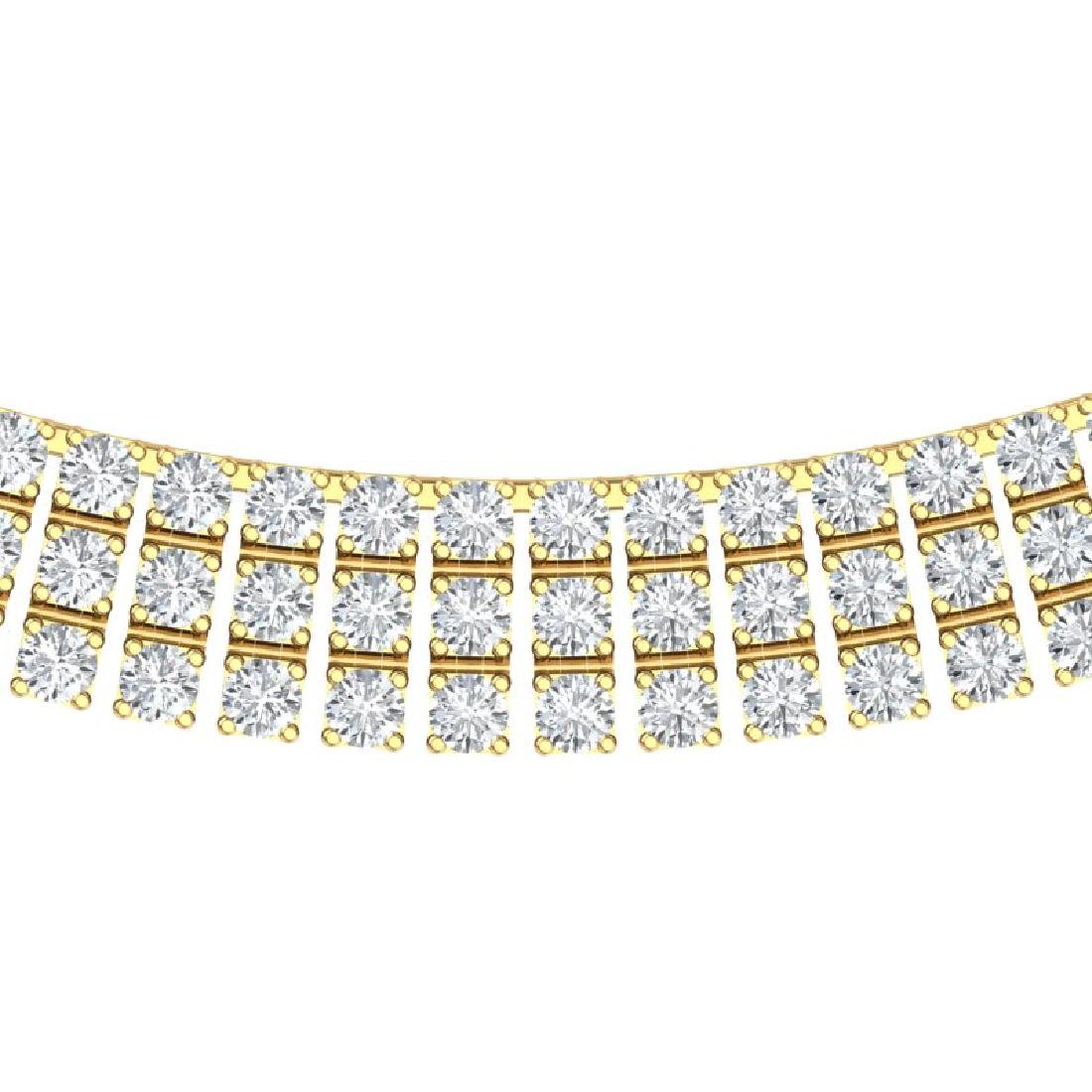 30 CTW Certified SI/I Diamond Necklace 18K Yellow Gold