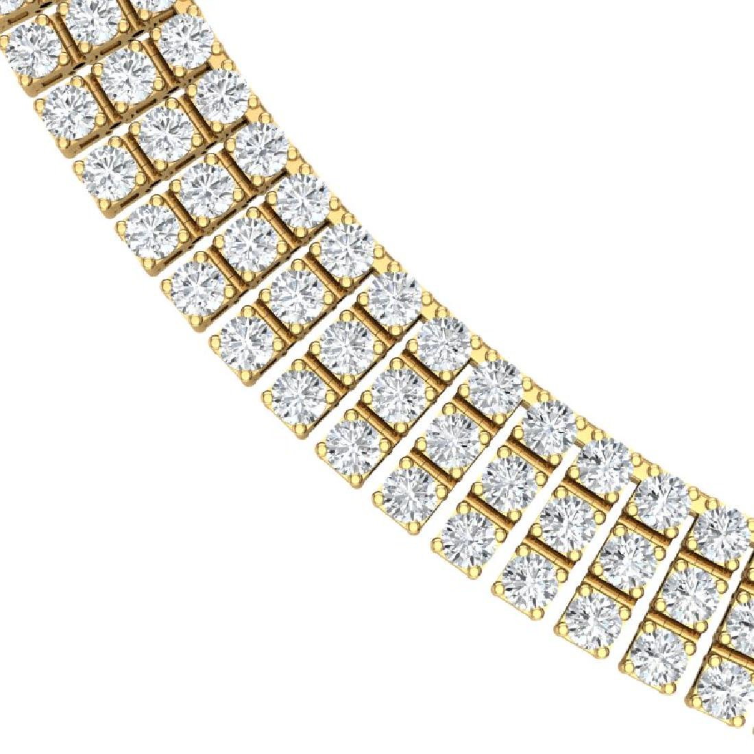 30 CTW Certified SI/I Diamond Necklace 18K Yellow Gold - 2