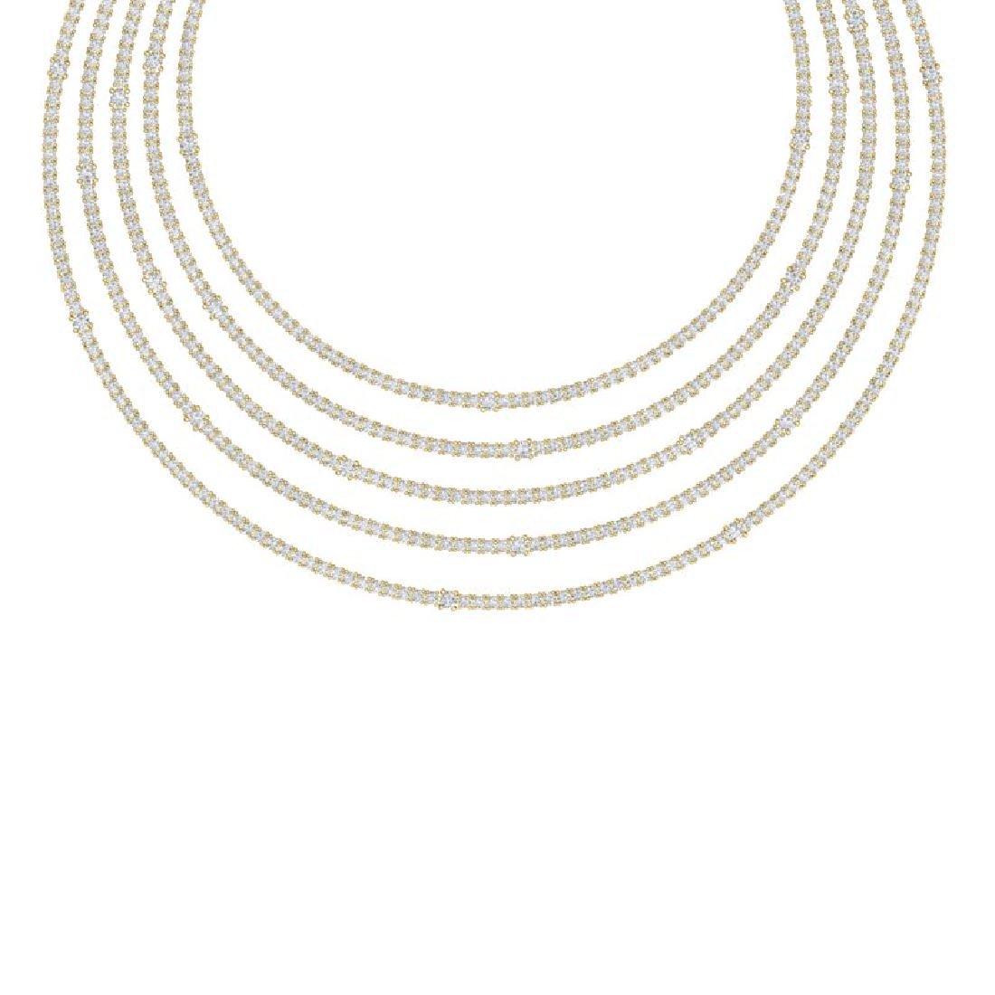 60 CTW Certified VS/SI Diamond Love Necklace 18K Yellow