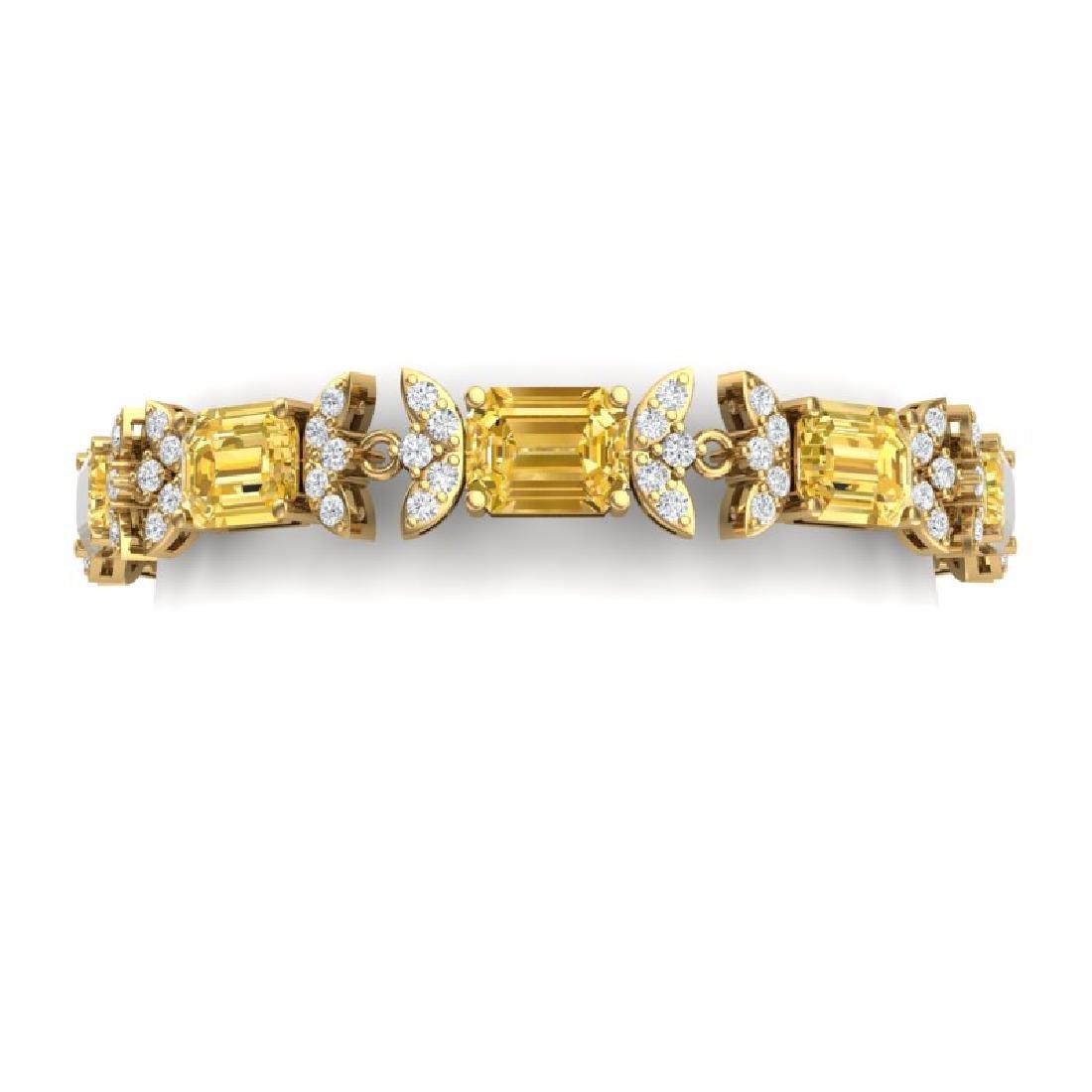 35.21 CTW Royalty Canary Citrine & VS Diamond Bracelet
