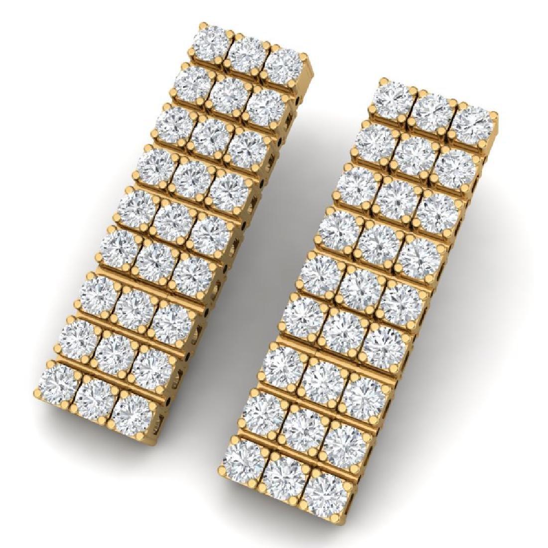 4 CTW Certified SI/I Diamond Earrings 18K Yellow Gold