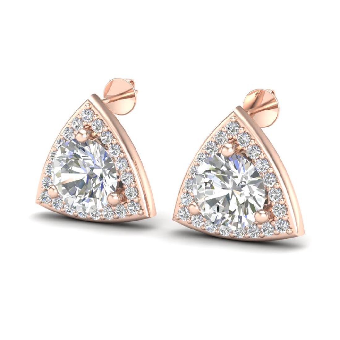 3 CTW VS/SI Diamond Stud Earrings 14K Rose Gold