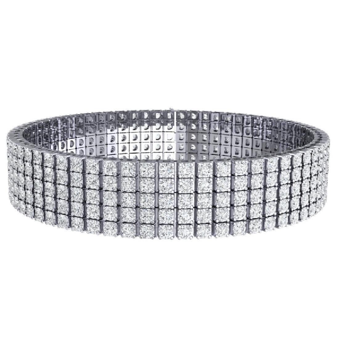20 CTW Certified VS/SI Diamond Bracelet 18K White Gold - 3