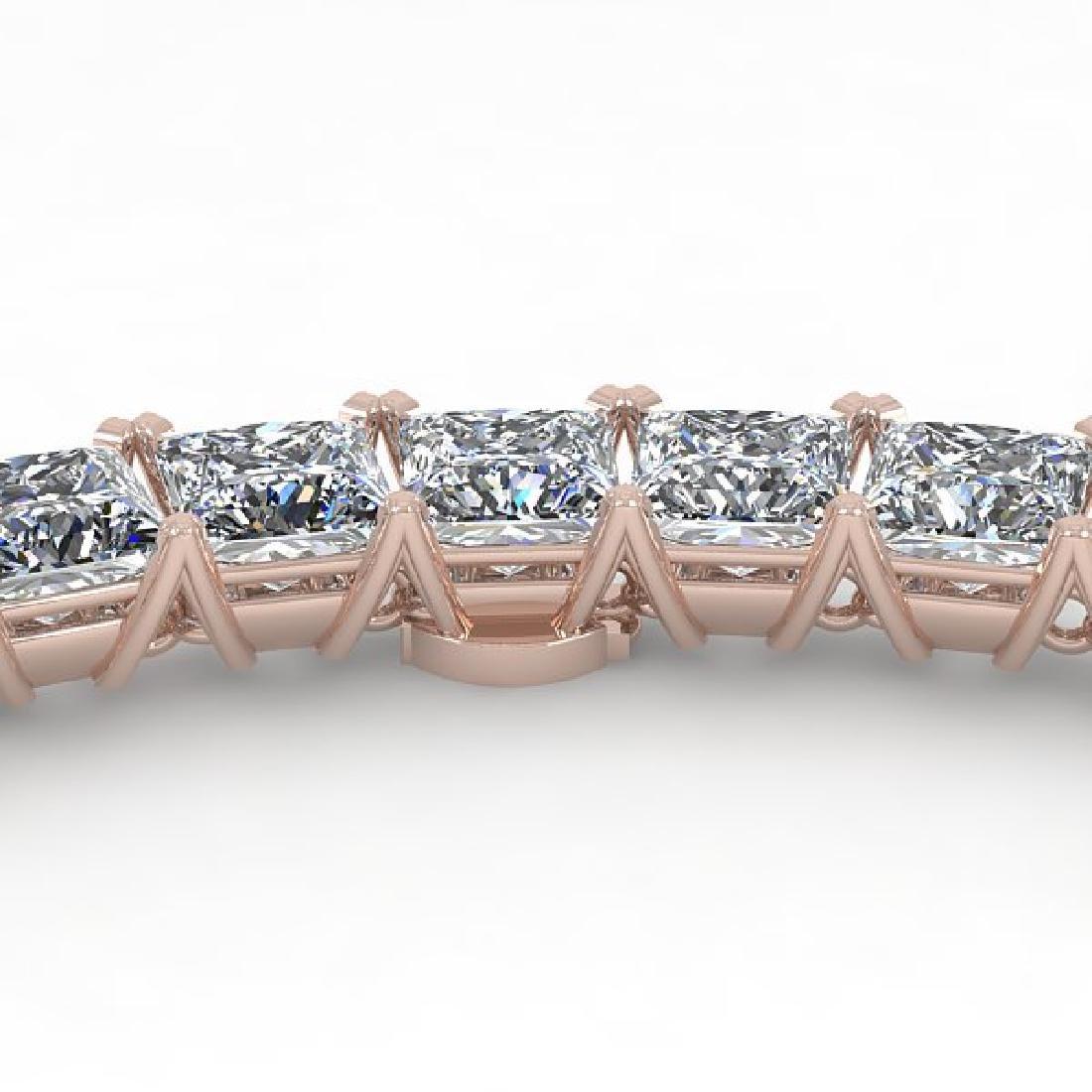 40 CTW Princess Certified SI Diamond Necklace 14K White