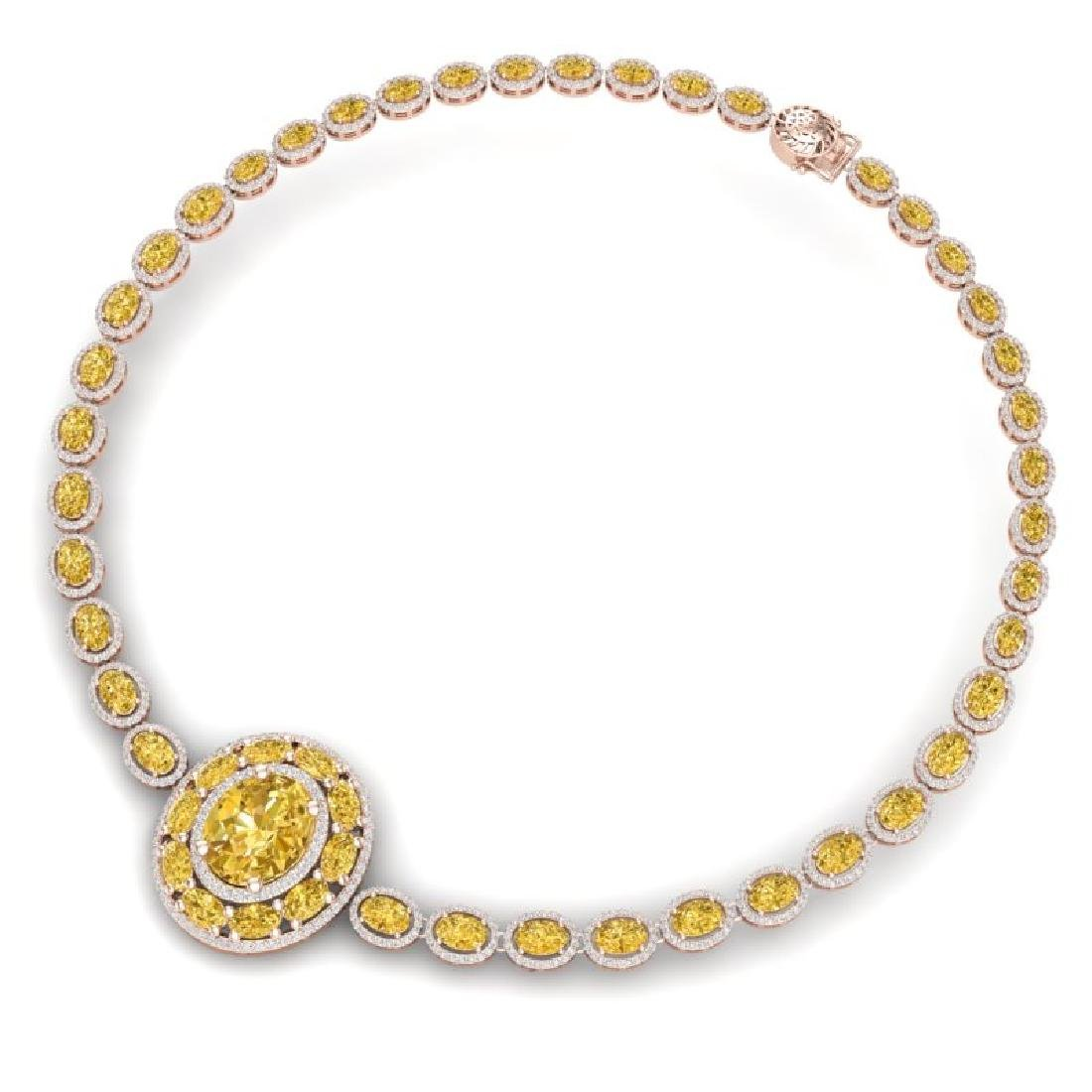 39.04 CTW Royalty Canary Citrine & VS Diamond Necklace - 3