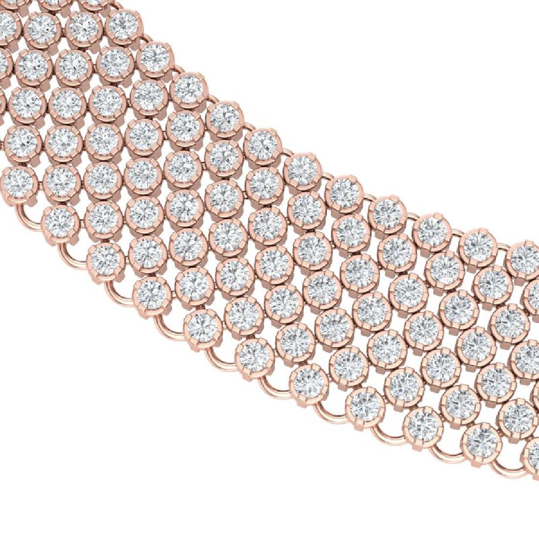 35 CTW Certified VS/SI Diamond Necklace 18K Rose Gold - 2