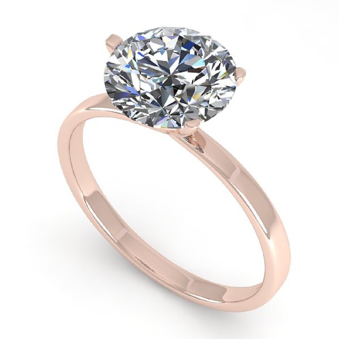 2 CTW Certified VS/SI Diamond Engagement Ring 14K Rose
