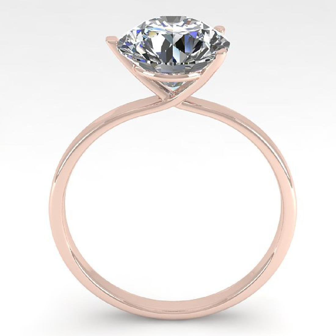 2 CTW Certified VS/SI Diamond Engagement Ring 14K Rose - 2