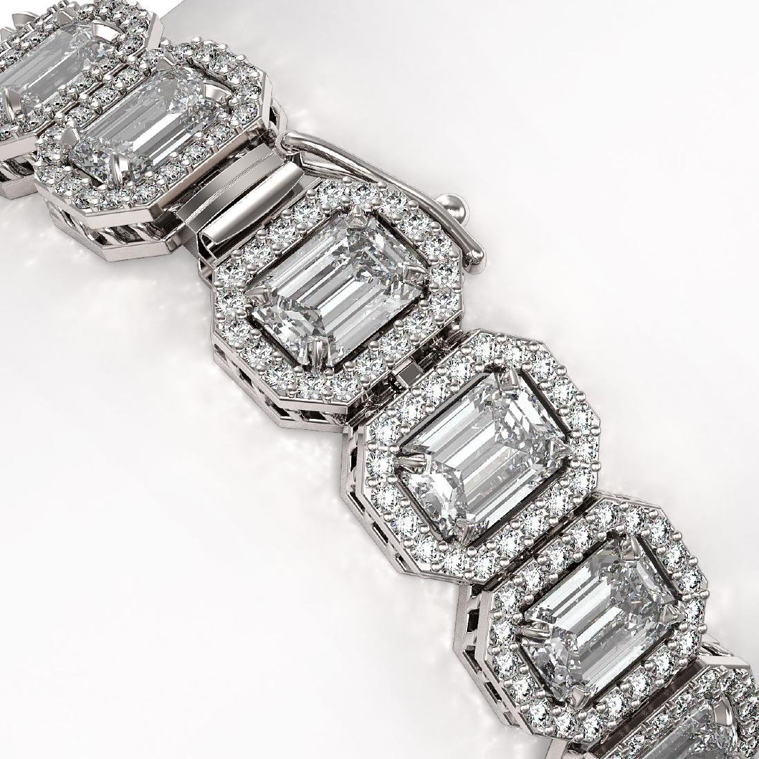 20.25 CTW Emerald Cut Diamond Designer Bracelet 18K - 3