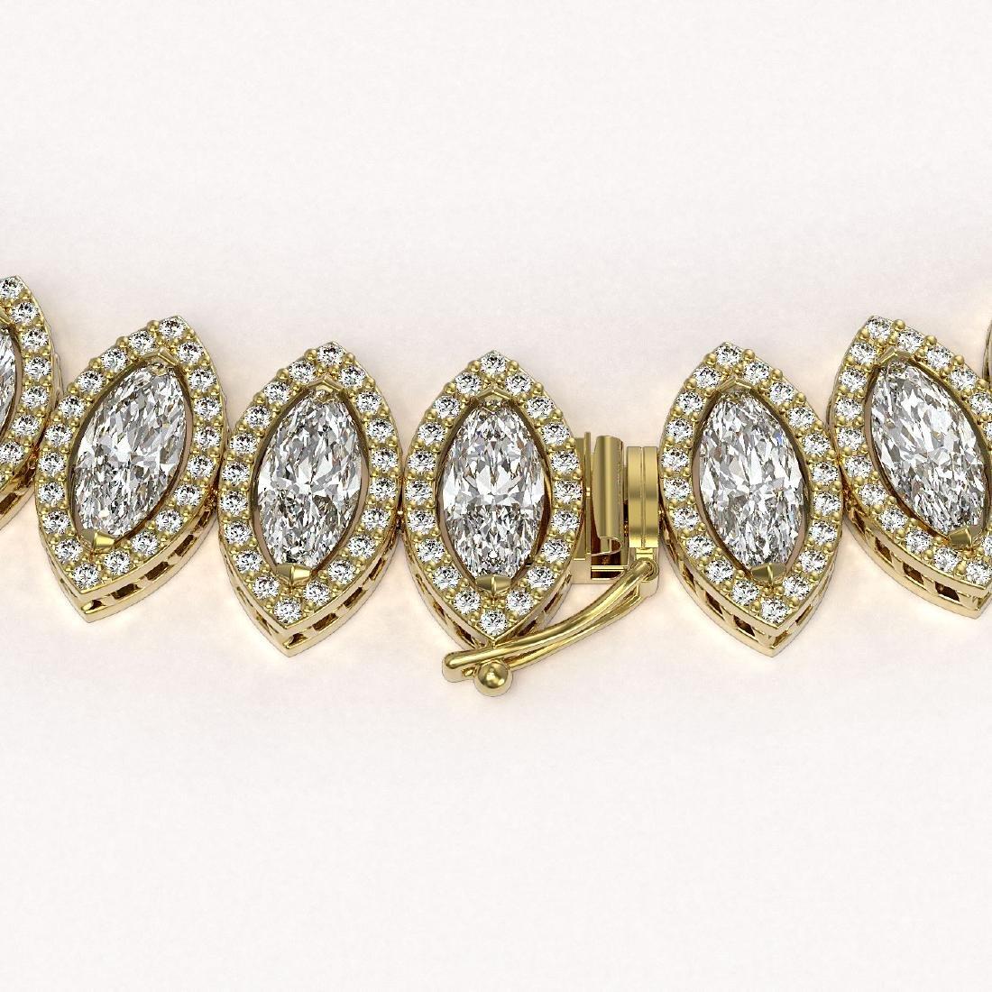 47.12 CTW Marquise Diamond Designer Necklace 18K Yellow - 3
