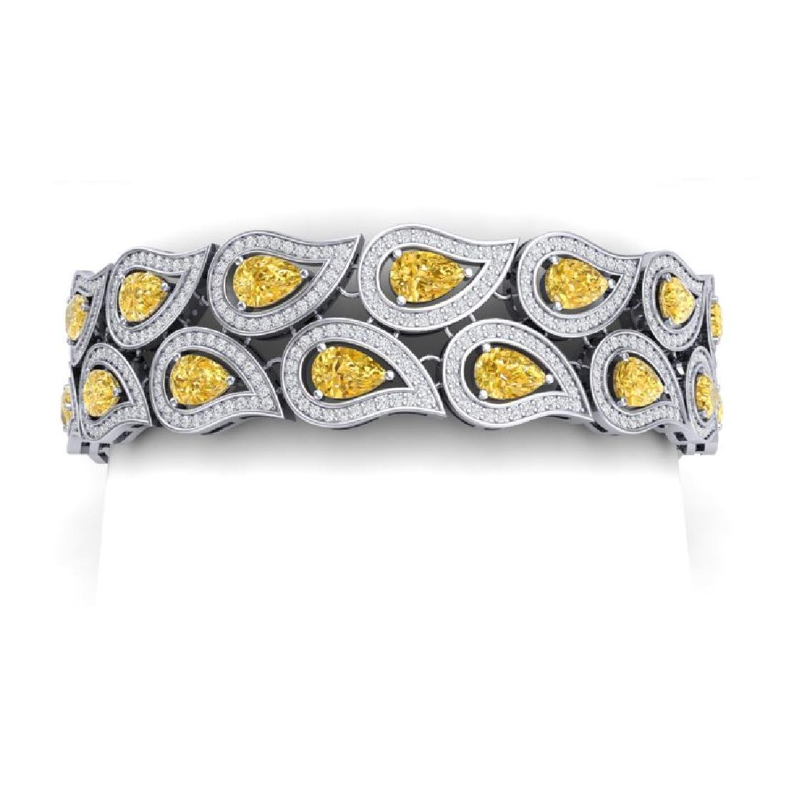 18.61 CTW Royalty Canary Citrine & VS Diamond Bracelet