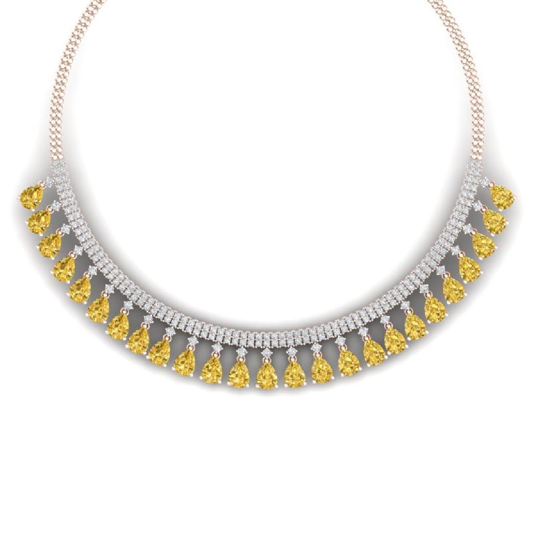 39.66 CTW Royalty Canary Citrine & VS Diamond Necklace