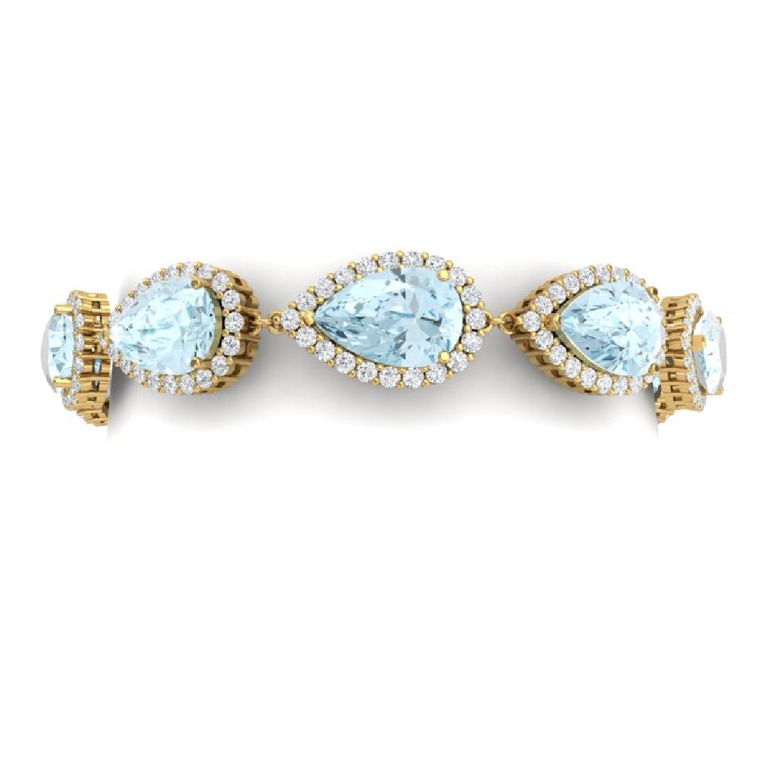 41.87 CTW Royalty Sky Topaz & VS Diamond Bracelet 18K