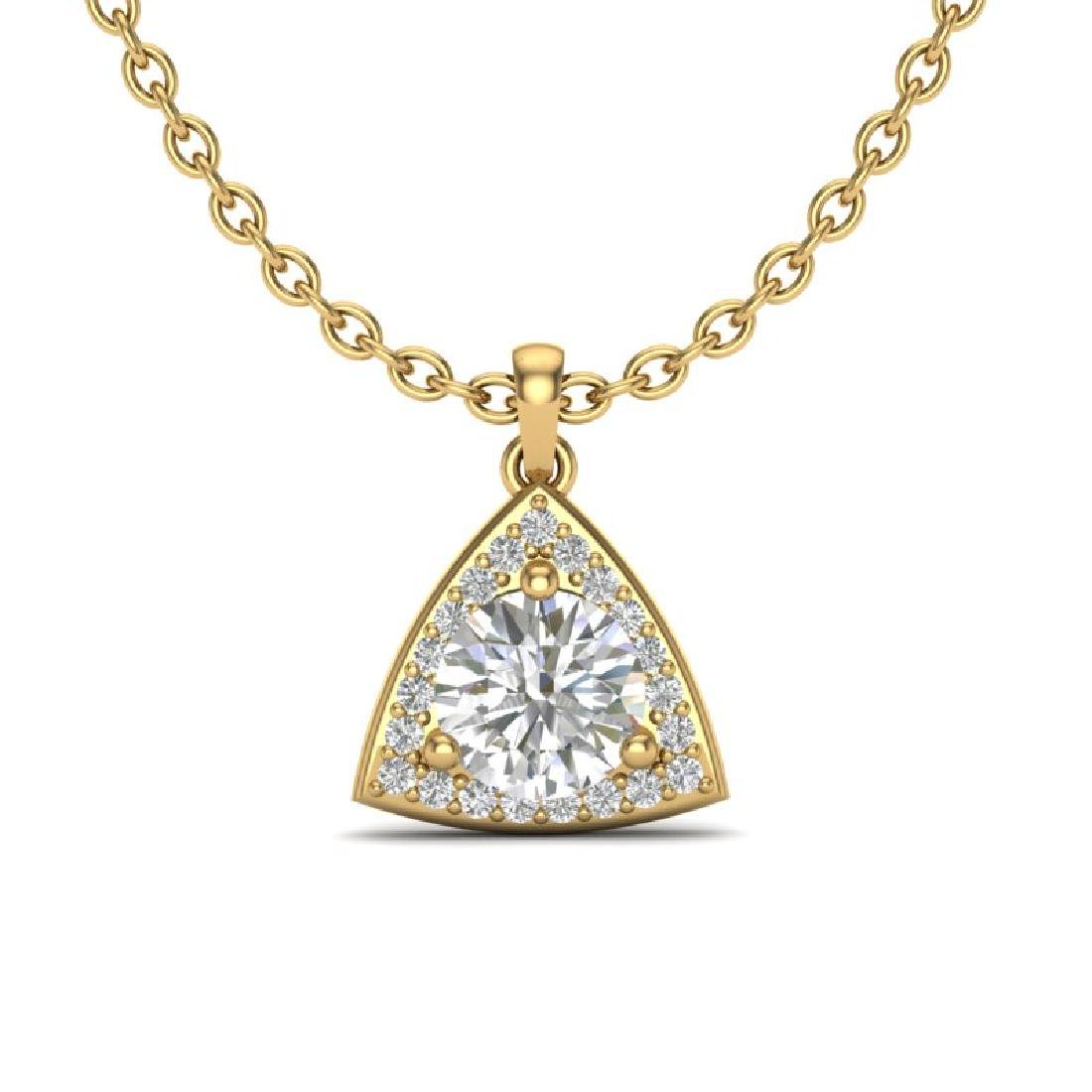 1.50 CTW VS/SI Diamond Necklace 18K Yellow Gold
