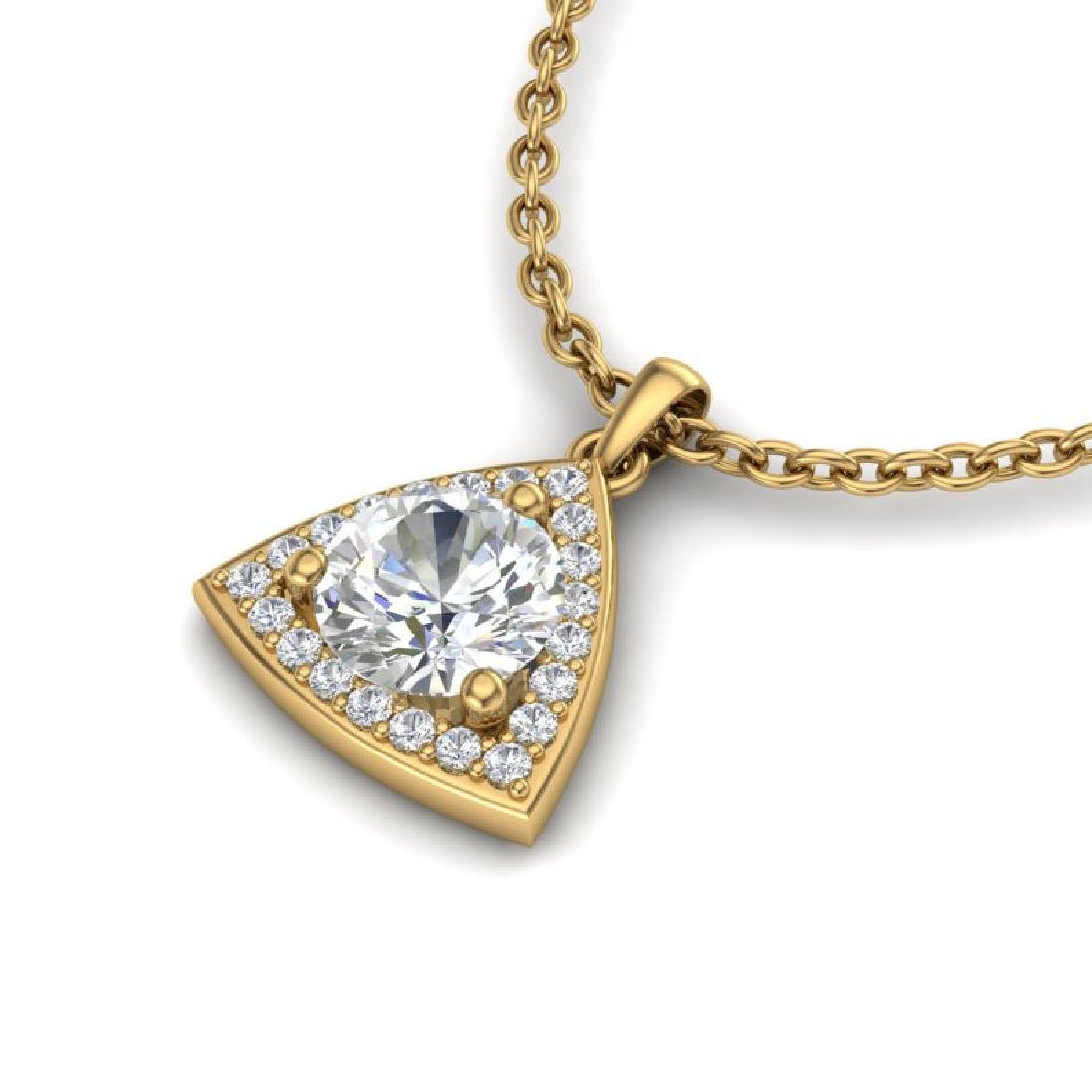 1.50 CTW VS/SI Diamond Necklace 18K Yellow Gold - 2
