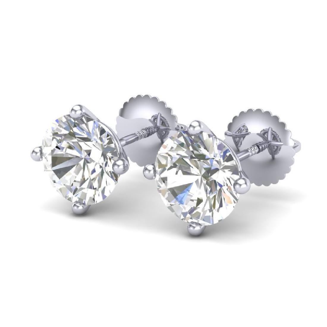 3.01 CTW VS/SI Diamond Solitaire Art Deco Stud Earrings