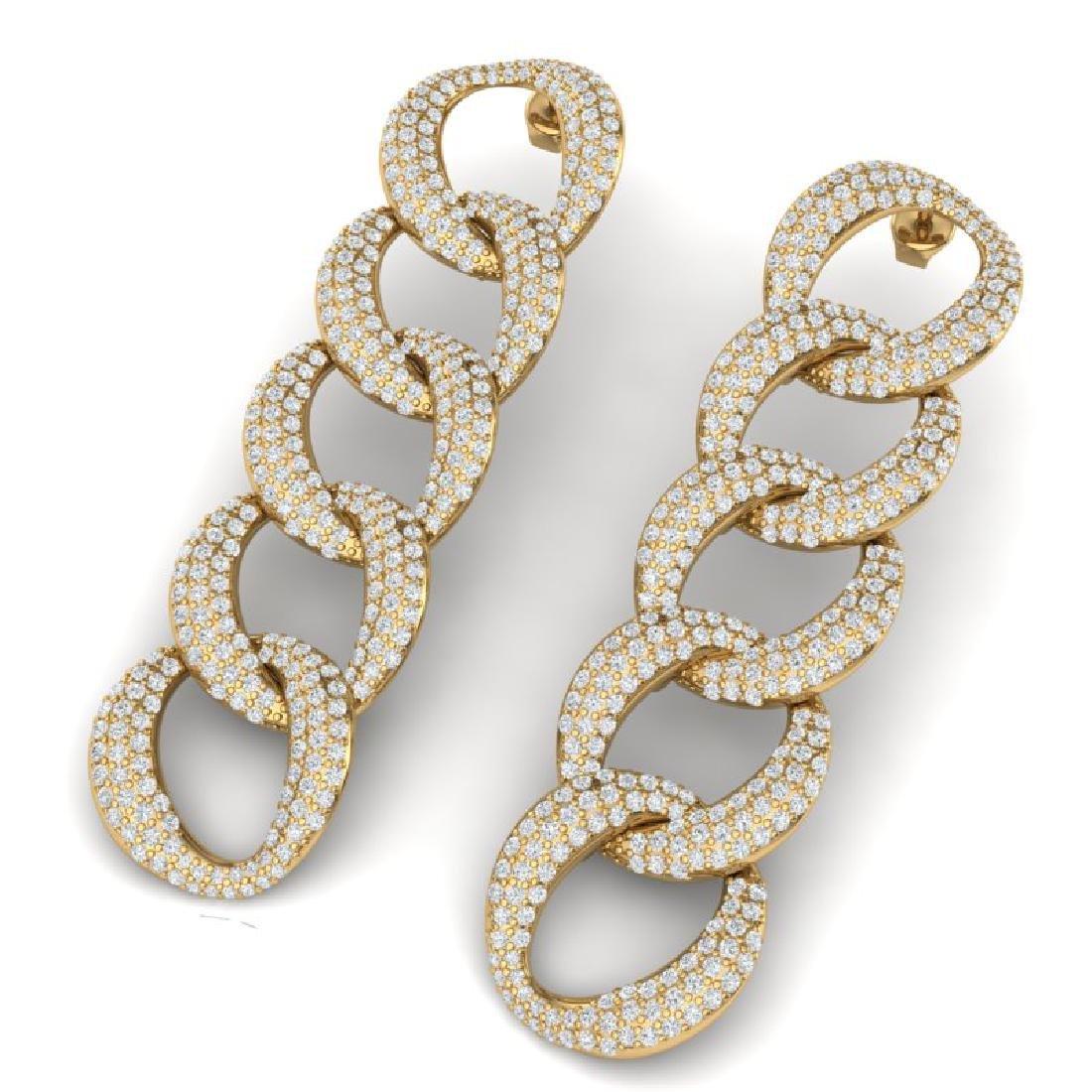 5 CTW Certified VS/SI Diamond Earrings 18K Yellow Gold