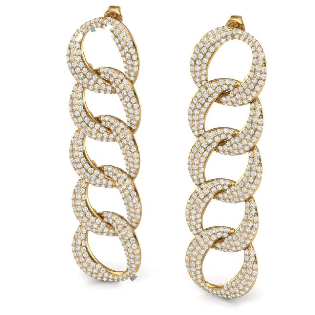 5 CTW Certified VS/SI Diamond Earrings 18K Yellow Gold - 2