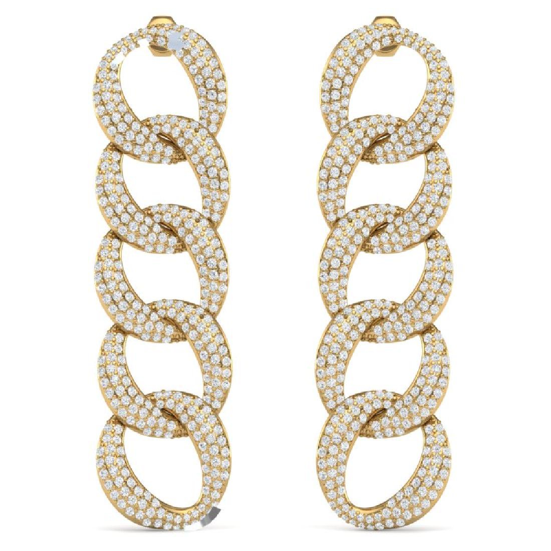 5 CTW Certified VS/SI Diamond Earrings 18K Yellow Gold - 3