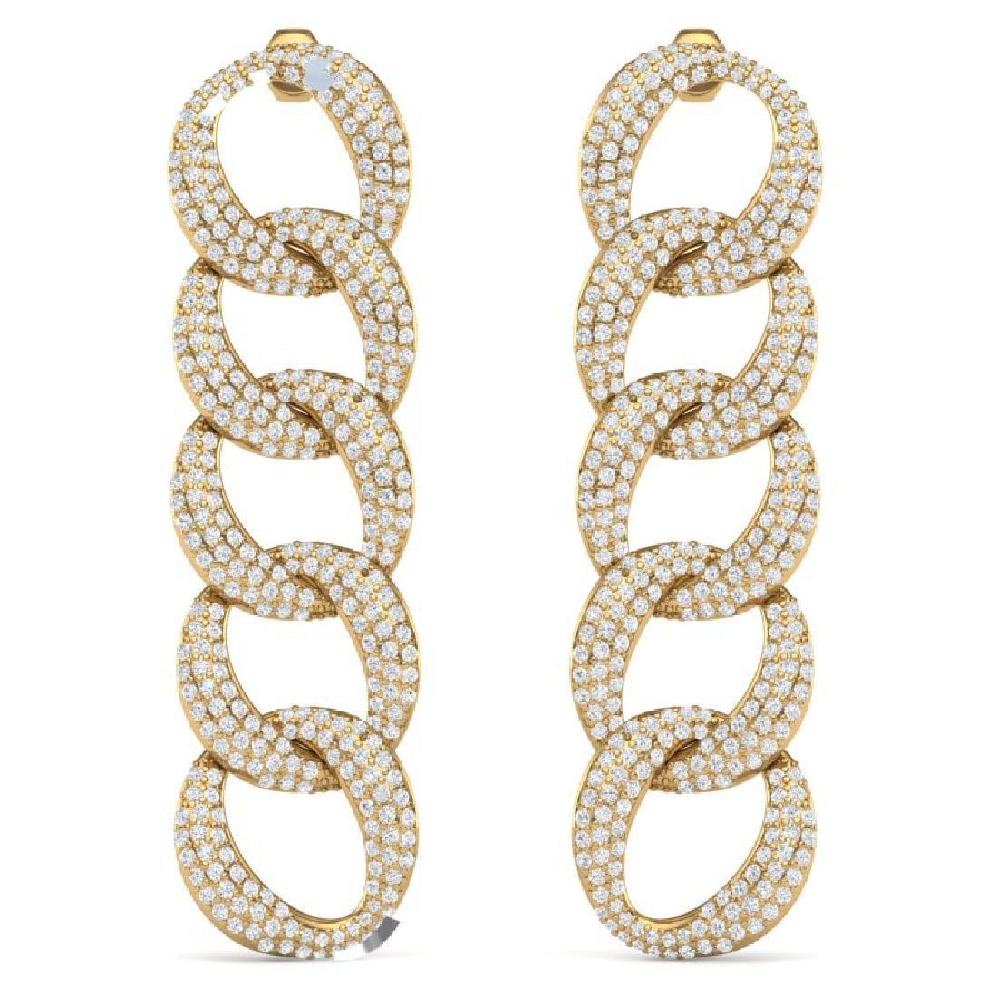 5 CTW Certified VS/SI Diamond Earrings 18K Yellow Gold - 3