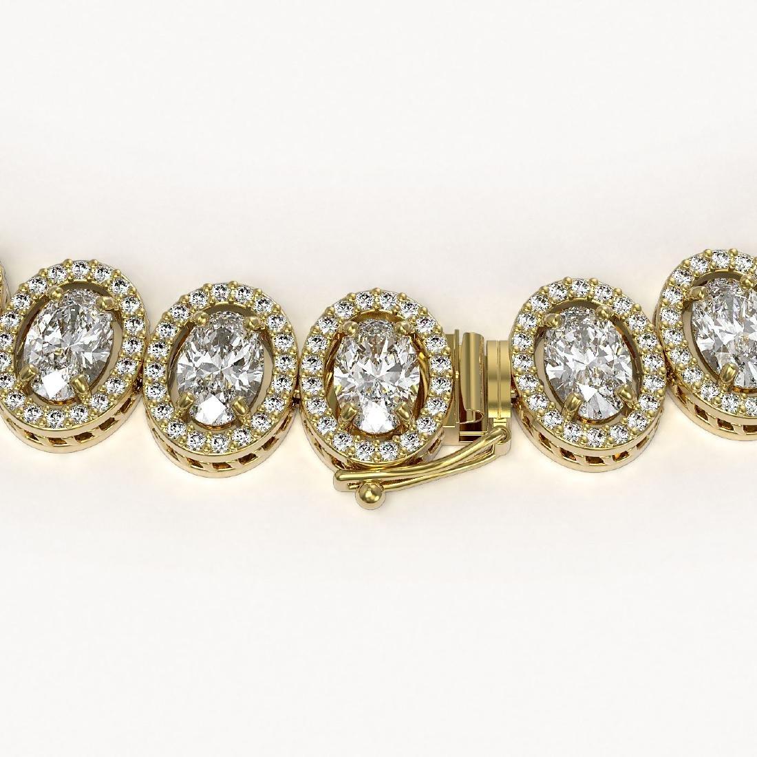 42.56 CTW Oval Diamond Designer Necklace 18K Yellow - 3