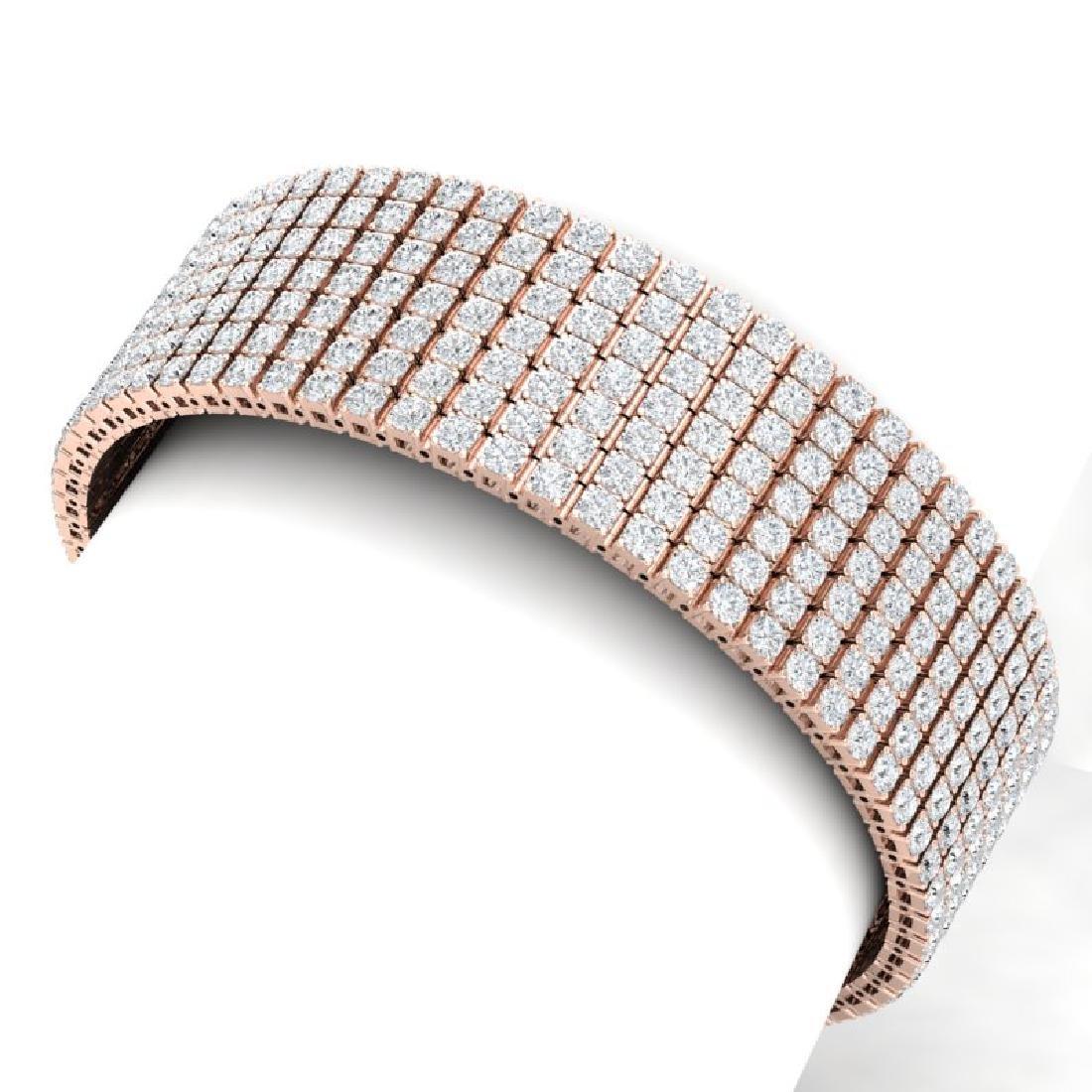 30 CTW Certified VS/SI Diamond Bracelet 18K Rose Gold