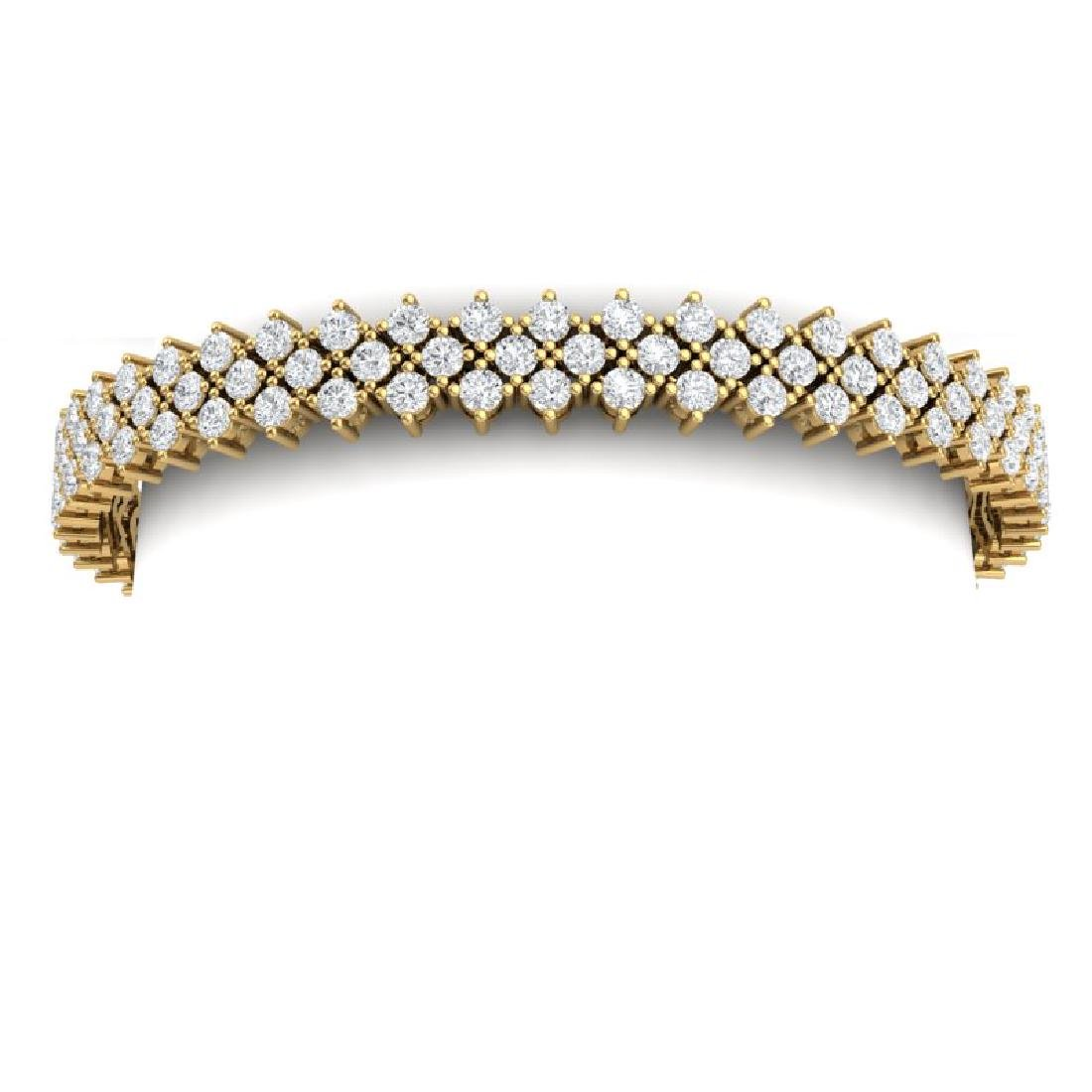 10 CTW Certified SI/I Diamond Bracelet 18K Yellow Gold - 2