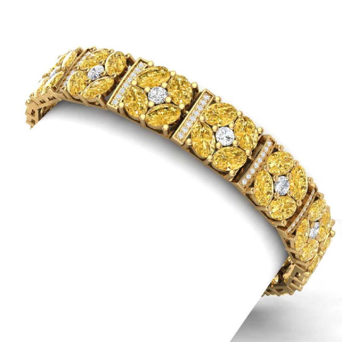 28.95 CTW Royalty Canary Citrine & VS Diamond Bracelet - 2