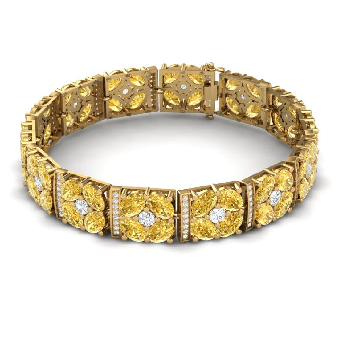 28.95 CTW Royalty Canary Citrine & VS Diamond Bracelet - 3