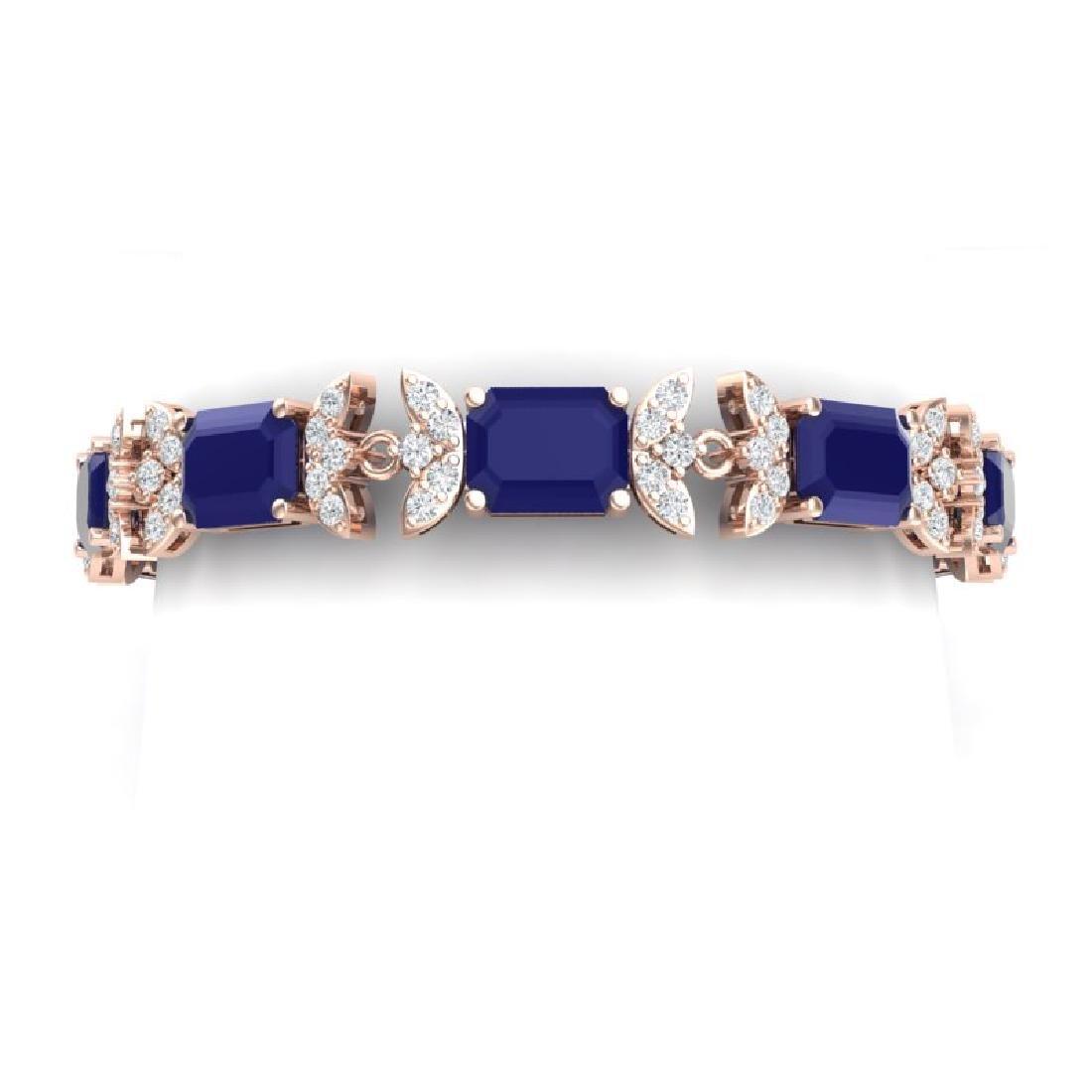38.13 CTW Royalty Sapphire & VS Diamond Bracelet 18K