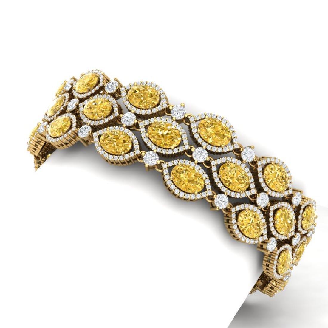 43.84 CTW Royalty Canary Citrine & VS Diamond Bracelet - 2