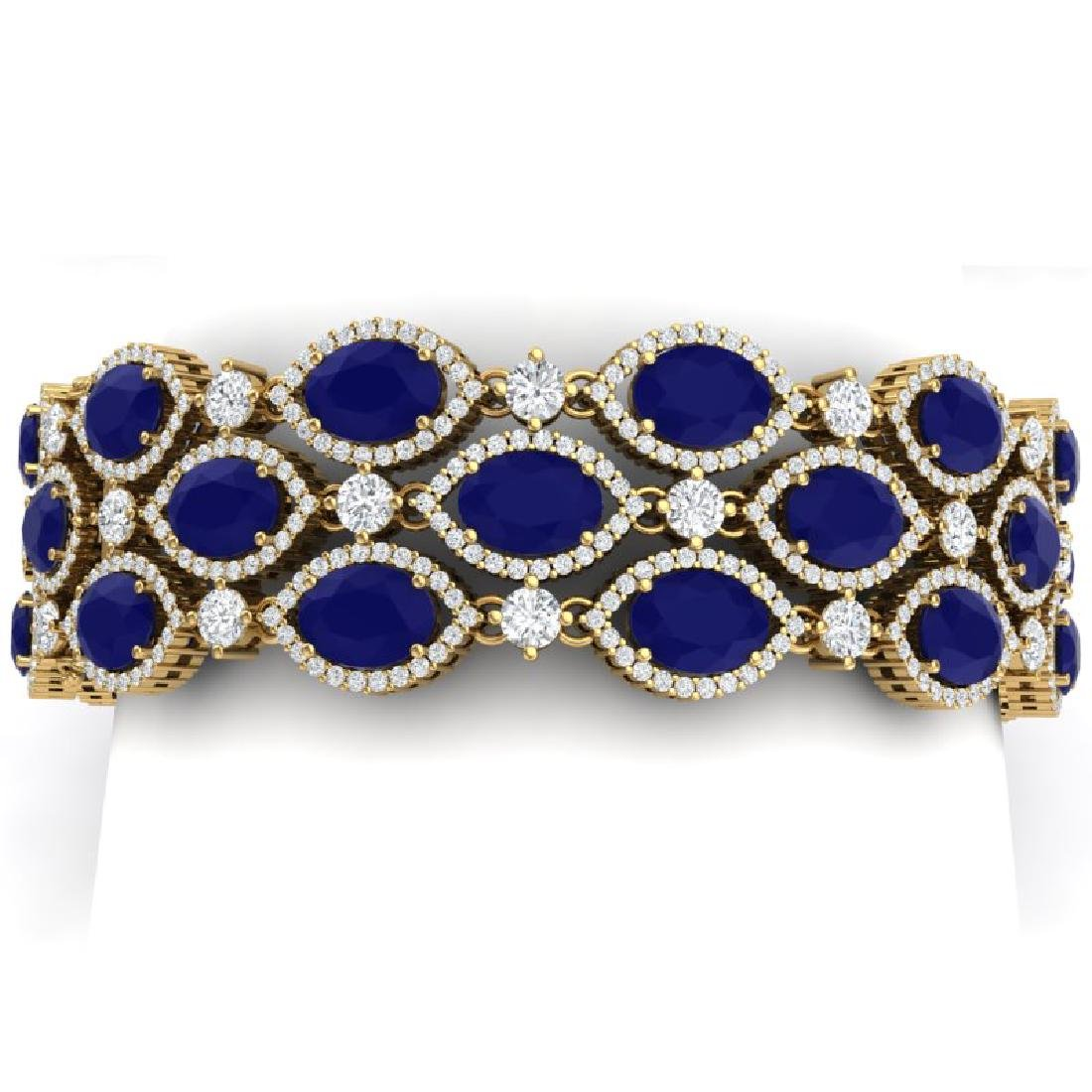 47.84 CTW Royalty Sapphire & VS Diamond Bracelet 18K