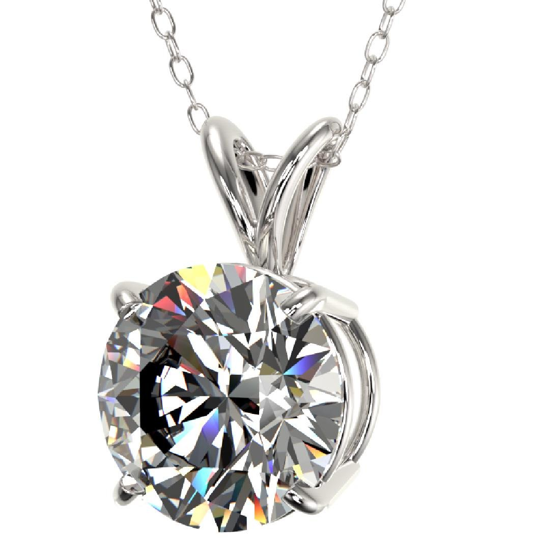 2 CTW Certified G-SI Diamond Bridal Necklace 10K White - 2