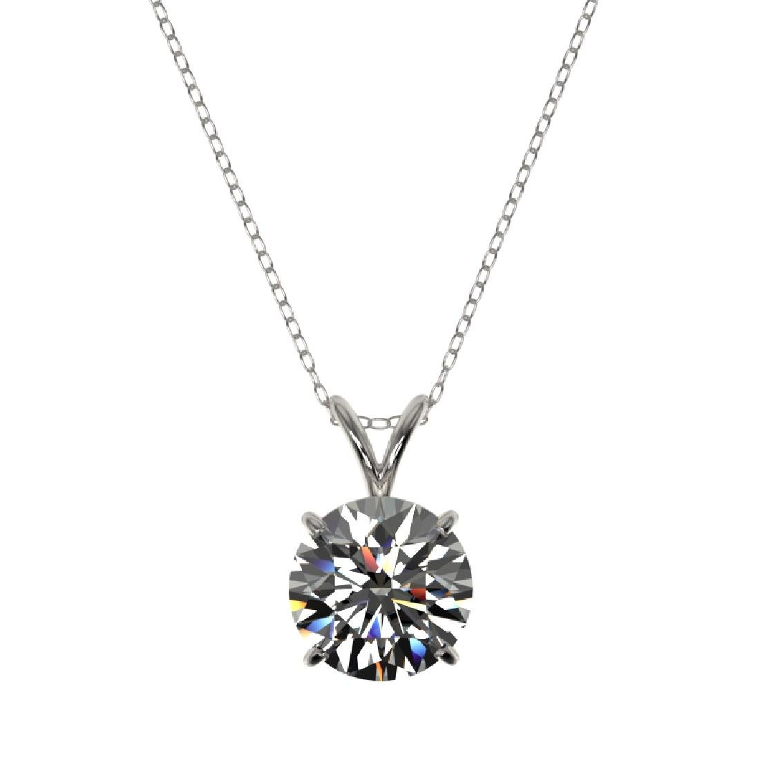 2 CTW Certified G-SI Diamond Bridal Necklace 10K White - 3
