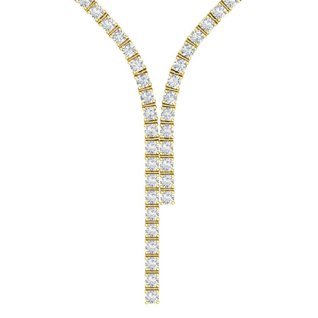 15 CTW Certified SI/I Diamond Necklace 18K Yellow Gold