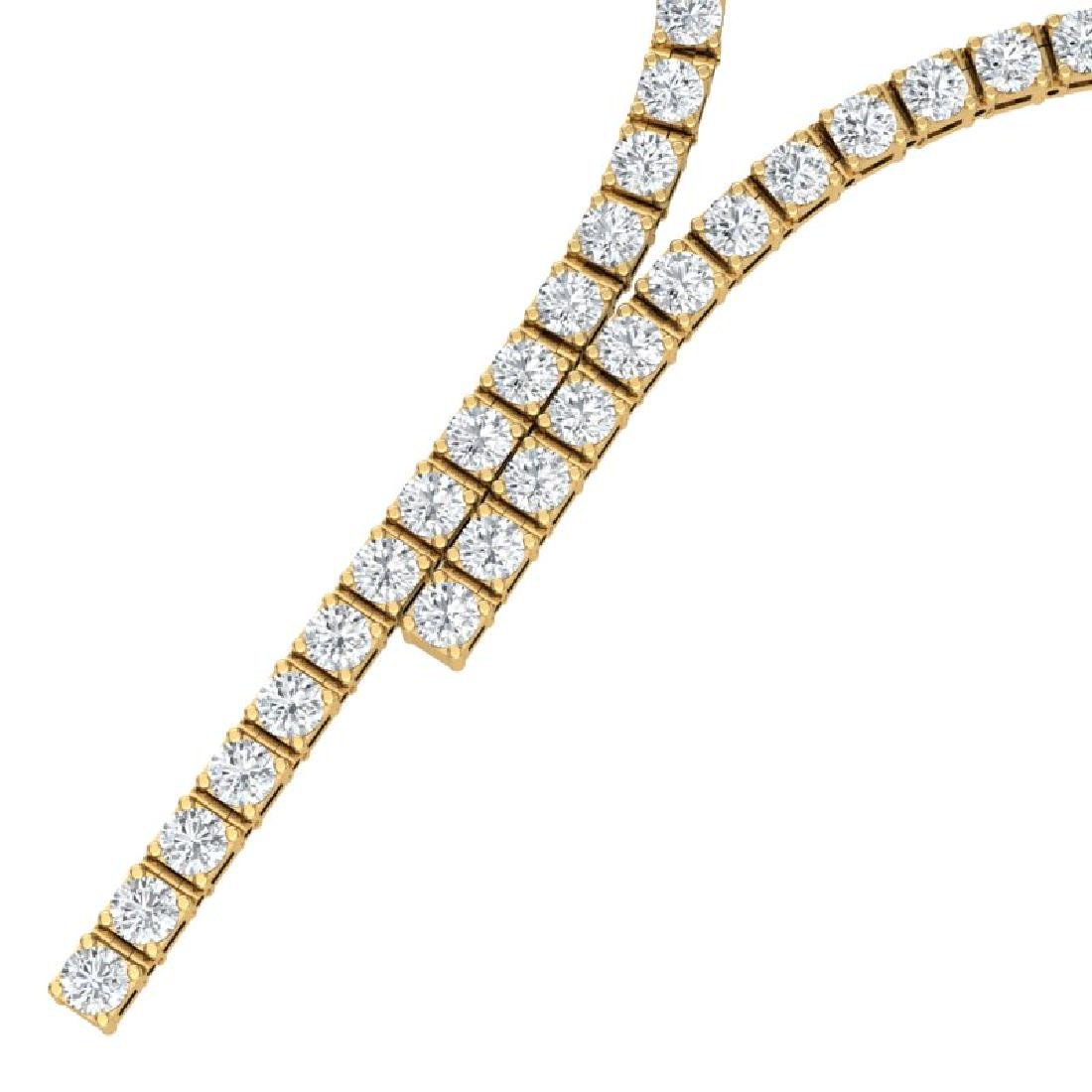 15 CTW Certified SI/I Diamond Necklace 18K Yellow Gold - 2