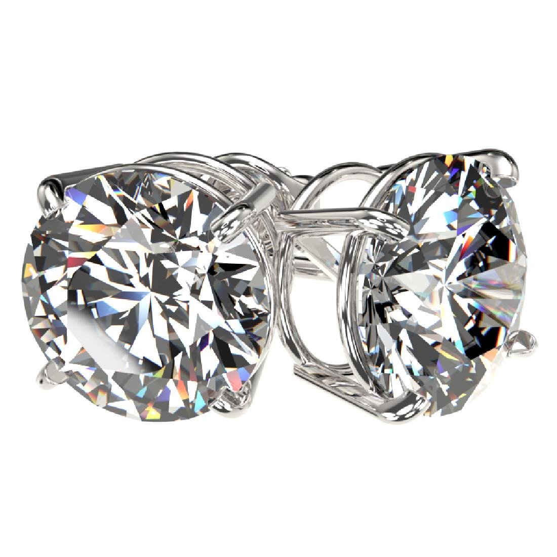 4.04 CTW Certified H-I Quality Diamond Stud Earrings - 3