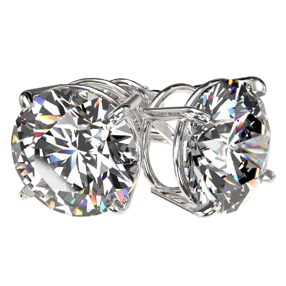4.04 CTW Certified H-I Quality Diamond Stud Earrings - 3