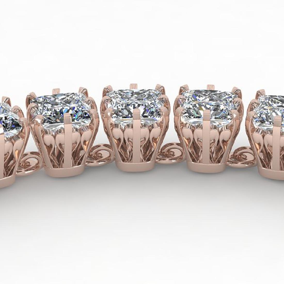 34 CTW Cushion Cut SI Certified Diamond Necklace 18K